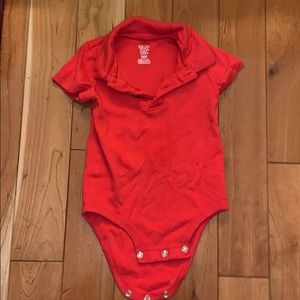Carter's One Pieces - EUC Collared Red Onesie